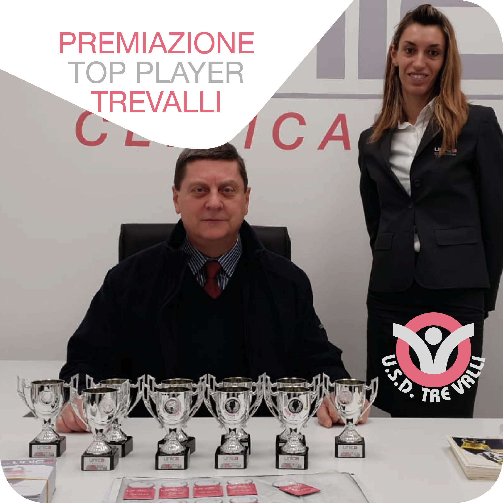 Premiazione Top Player Trevalli Unica Clinica Dentale